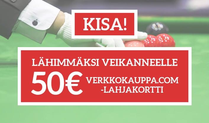 KISA: Veikkaa isoin breikki! - Voittajalle 50€:n Verkkokauppa.com-lahjakortti