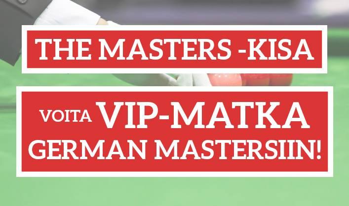 KISA: Veikkaa Mastersin 1. kierroksen otteluita ja voita VIP-matka German Mastersin välierään!