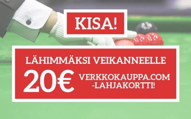KISA: Veikkaa O'Sullivan - Dott -ottelun suurin breikki ja voita lahjakortti Verkkokauppaan!