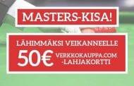 KISA: Veikkaa Masters-finalistit ja voita 50 euron lahjakortti Verkkokauppa.comiin!